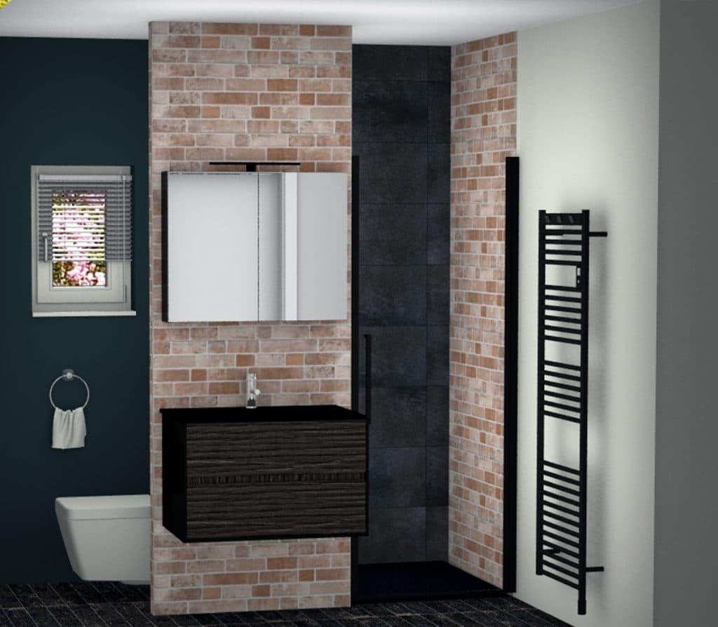 Petite salle de bains industrielle 2