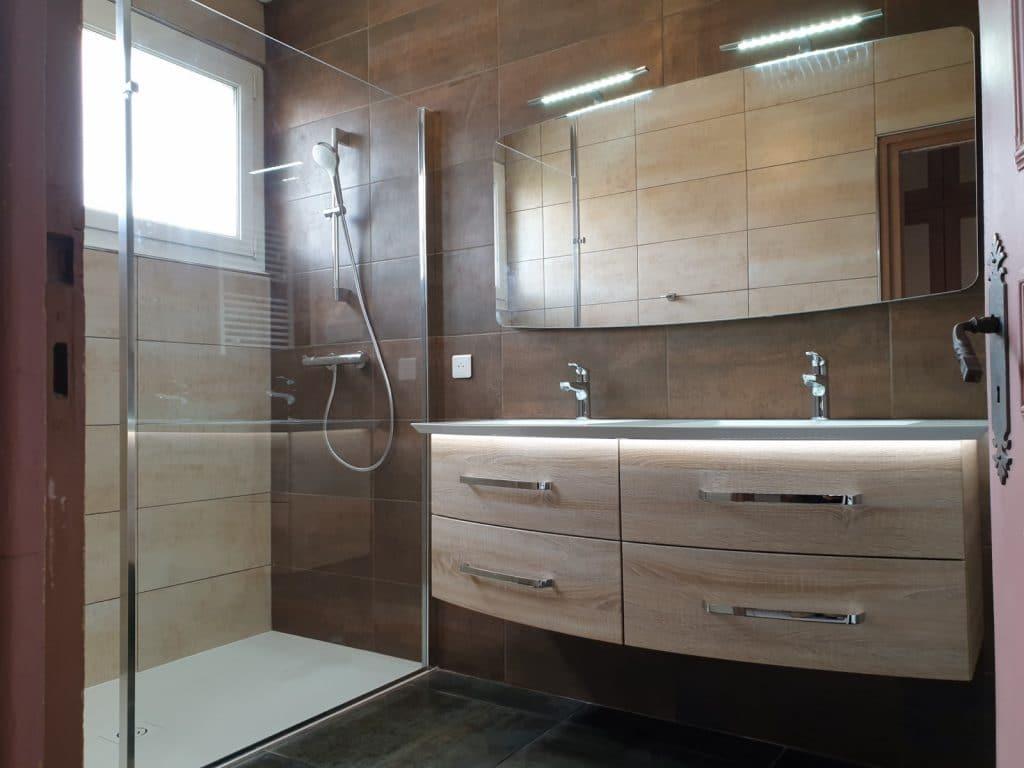 Realisation Salle de bain cuivre anconetti