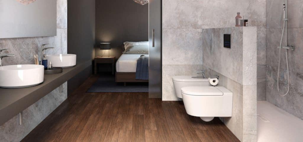 carrelage bois salle de bain partedis